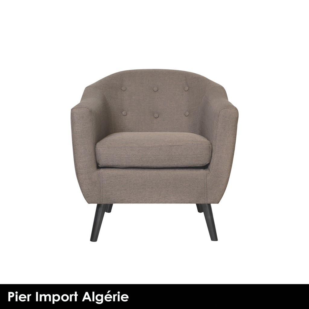 STOCKHOLM Fauteuil Club Taupe