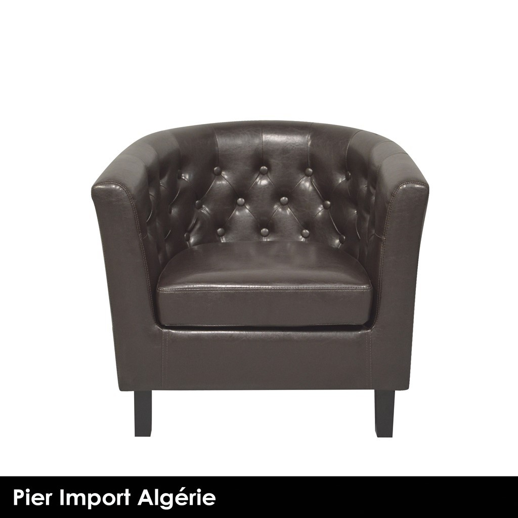 BOSTON Fauteuil Club Marron