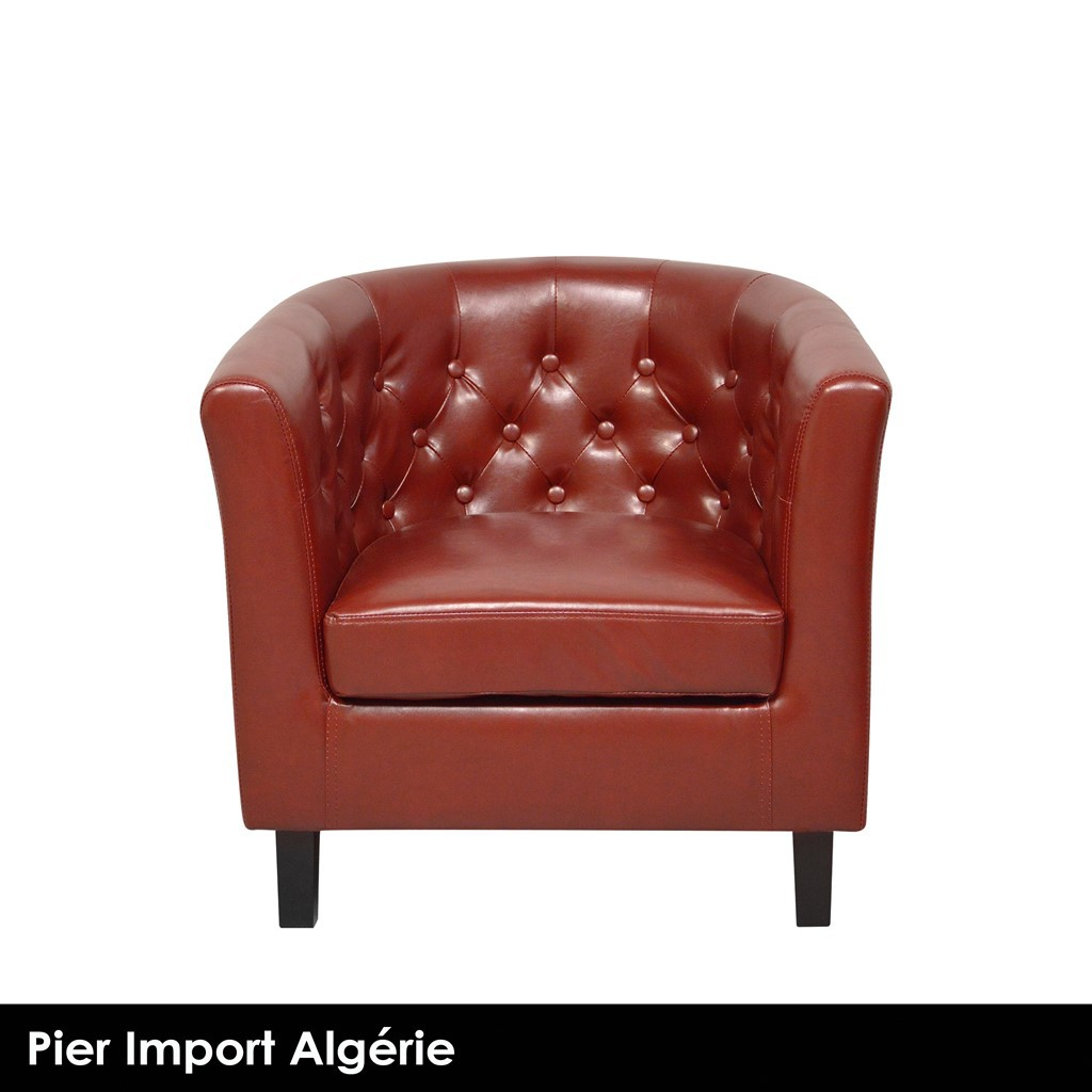 BOSTON Fauteuil Club Rouge