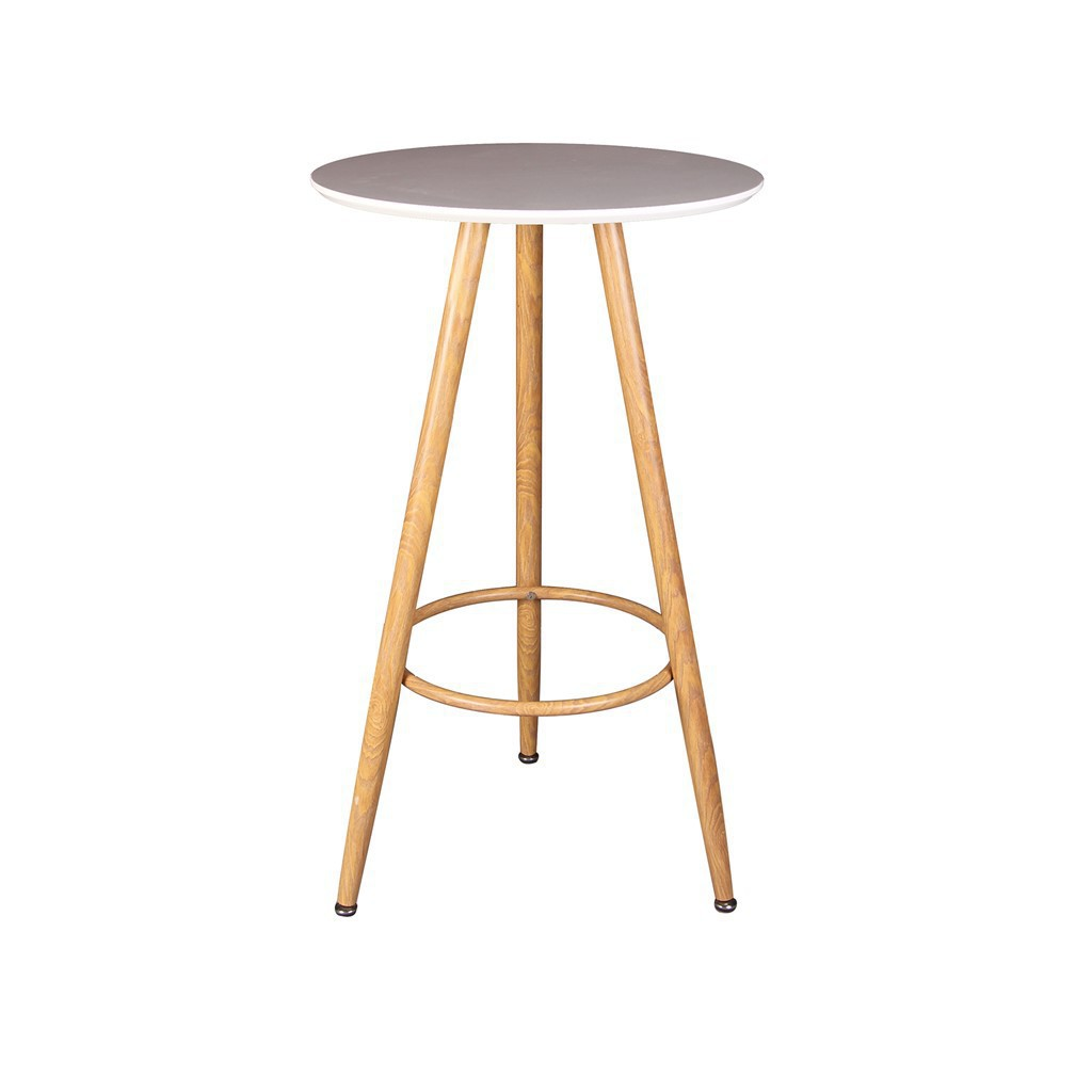 Table haute bar D60cm, H 103cm BLANC