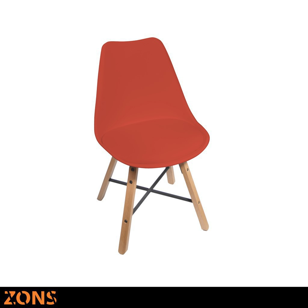 Chaise DESIGN Nordique H84cm Rouge